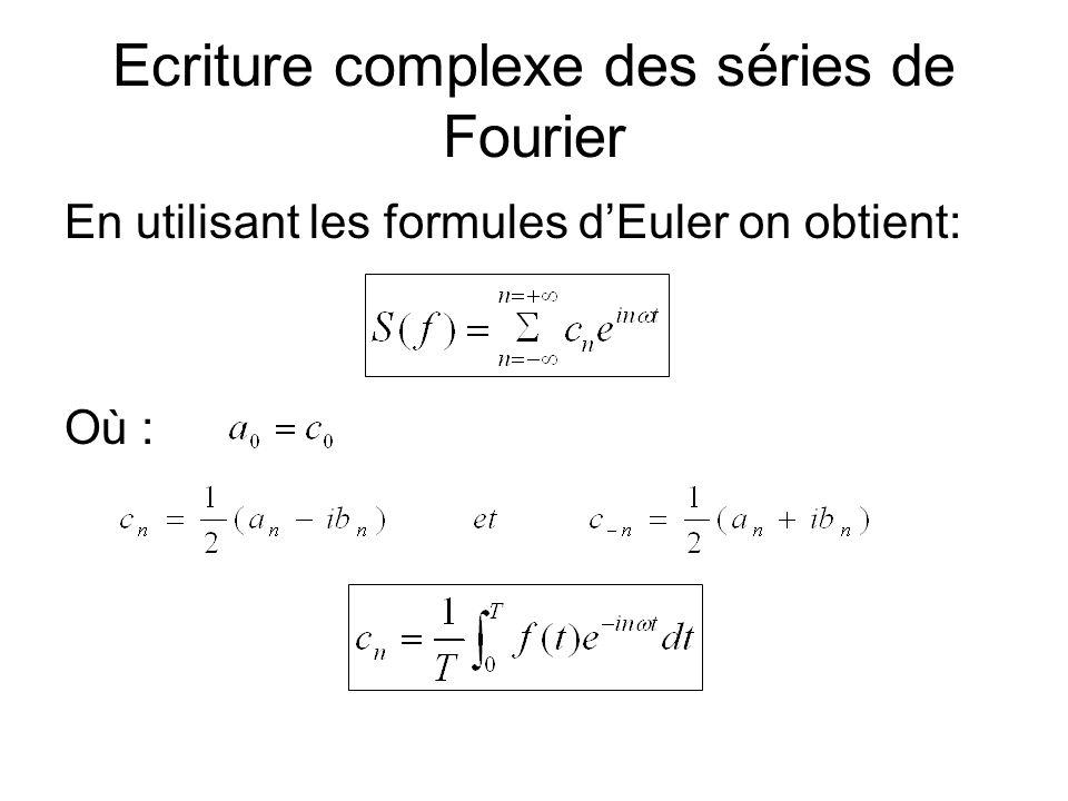 Ecriture complexe des séries de Fourier