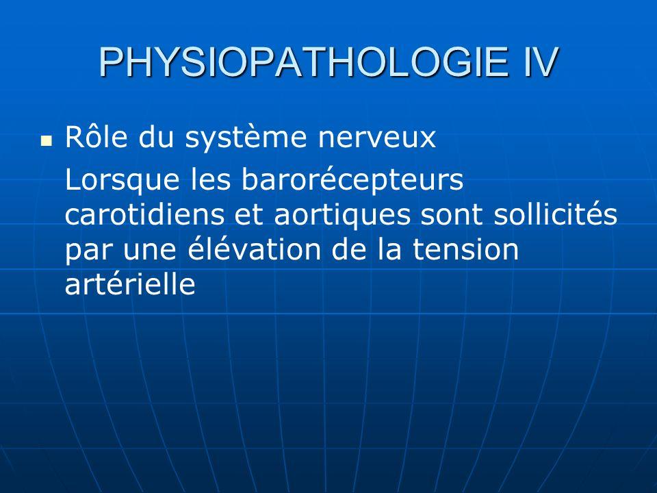 PHYSIOPATHOLOGIE IV Rôle du système nerveux