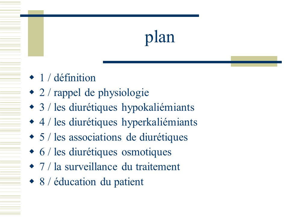 plan 1 / définition 2 / rappel de physiologie