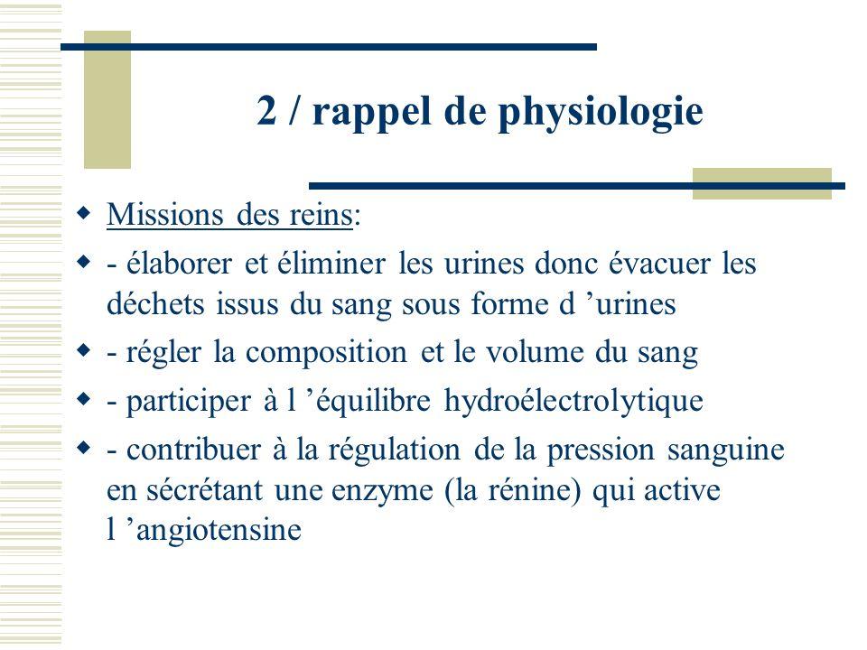 2 / rappel de physiologie