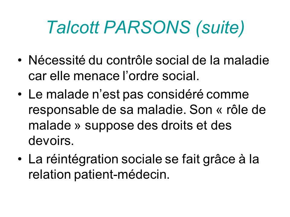 Talcott PARSONS (suite)