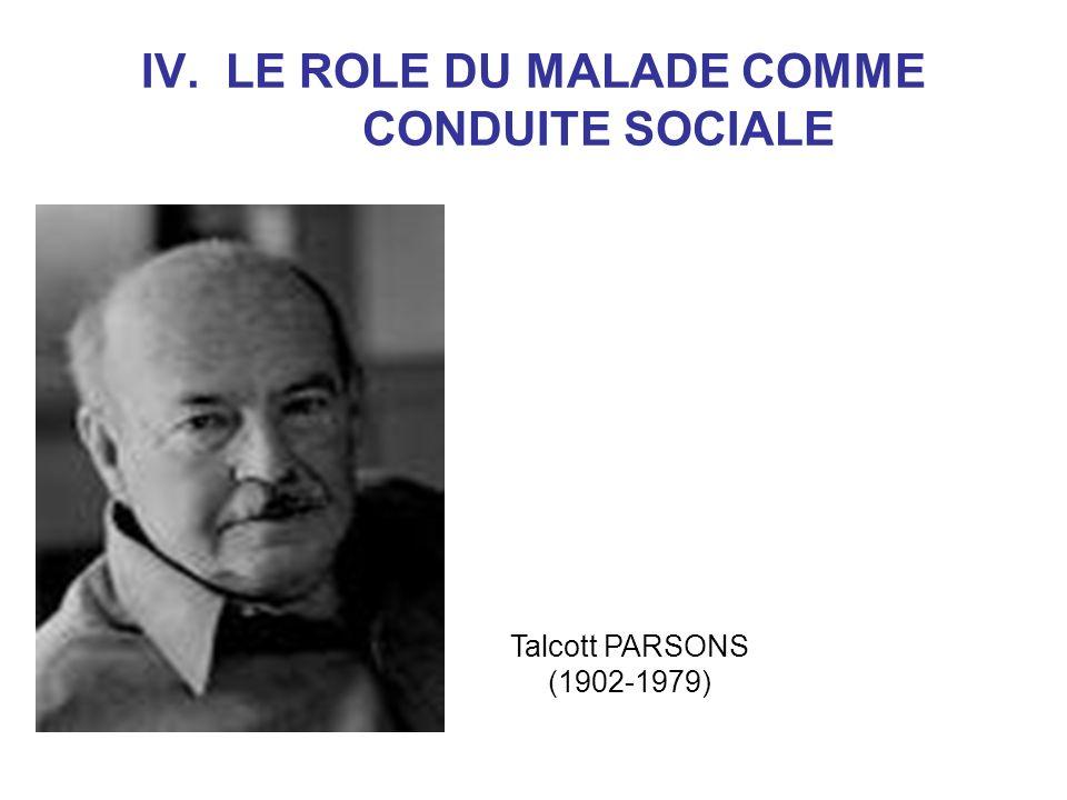 IV. LE ROLE DU MALADE COMME CONDUITE SOCIALE