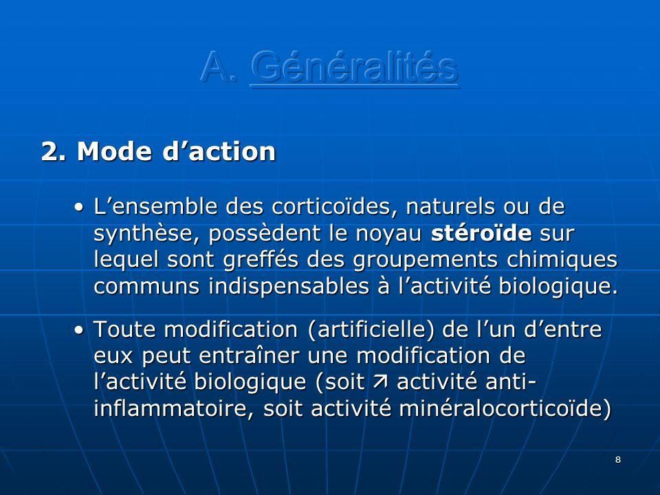 A. Généralités 2. Mode d'action