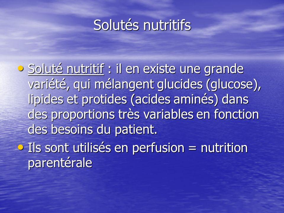 Solutés nutritifs