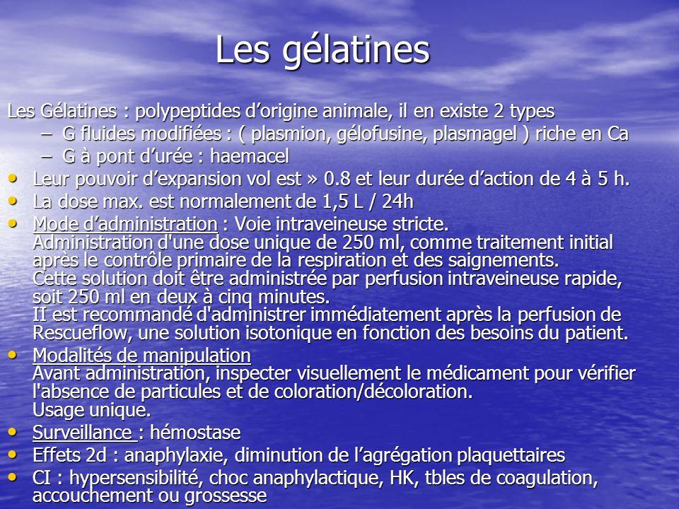Les gélatines Les Gélatines : polypeptides d'origine animale, il en existe 2 types.