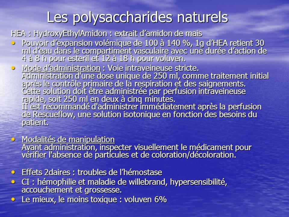 Les polysaccharides naturels
