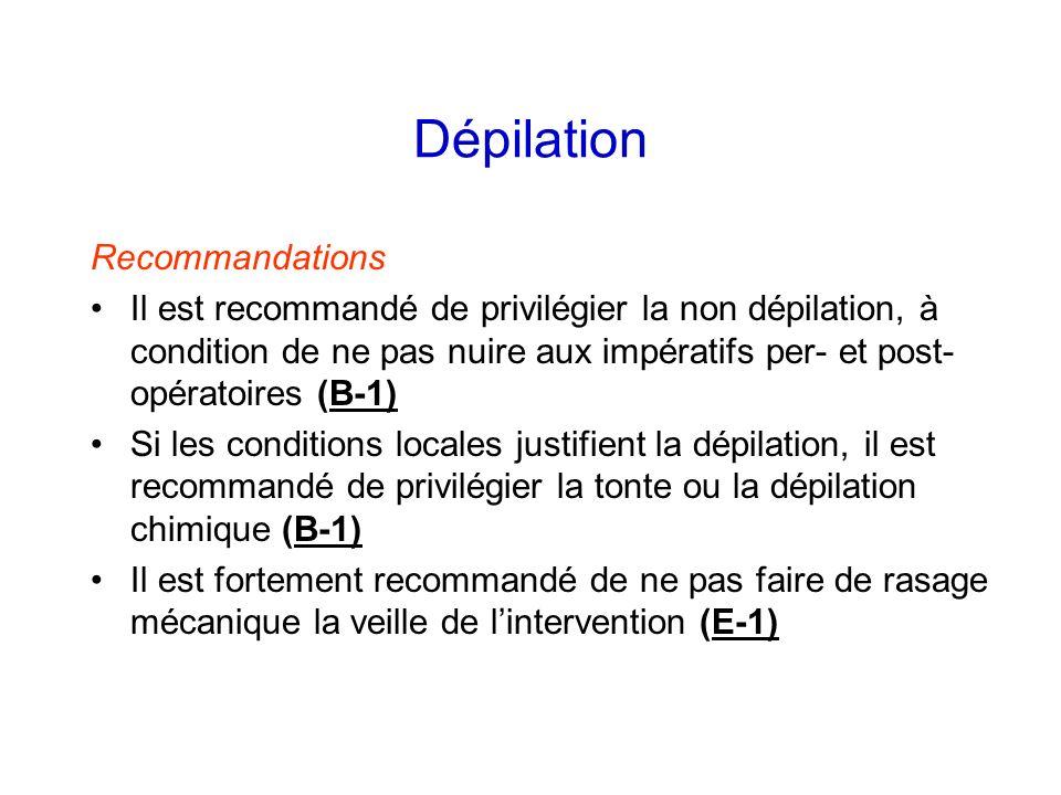 Dépilation Recommandations