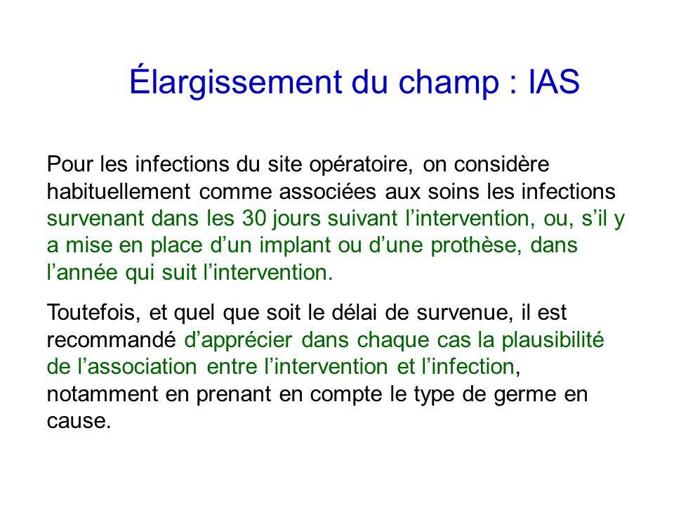 Élargissement du champ : IAS
