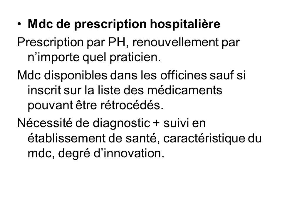 Mdc de prescription hospitalière