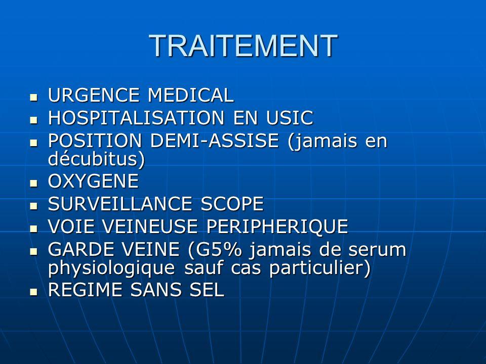 TRAITEMENT URGENCE MEDICAL HOSPITALISATION EN USIC