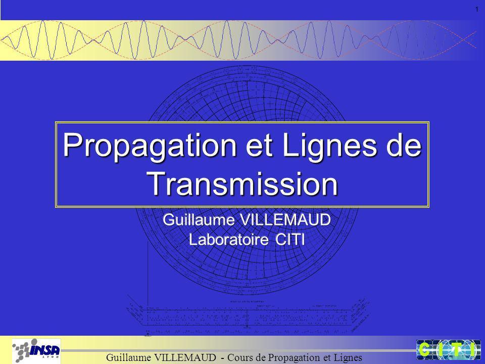 Propagation et Lignes de Transmission