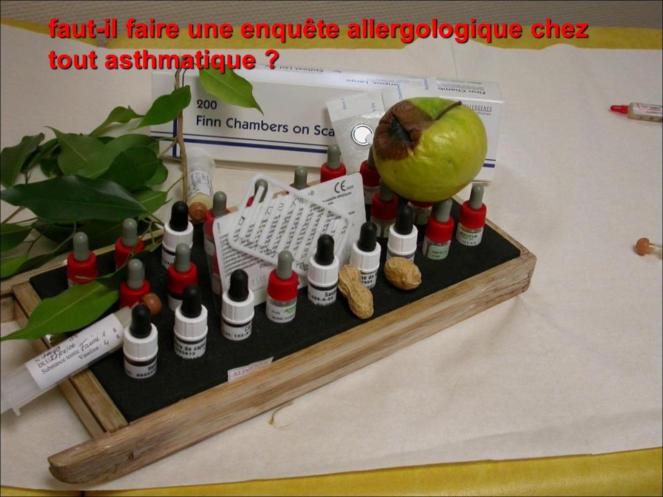 faut-il faire une enquête allergologique chez tout asthmatique