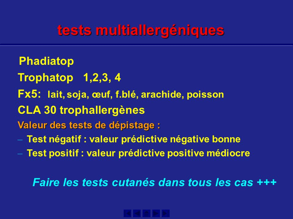 tests multiallergéniques