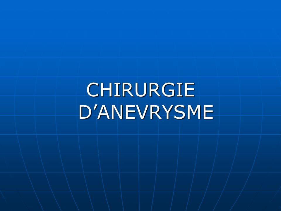 CHIRURGIE D'ANEVRYSME
