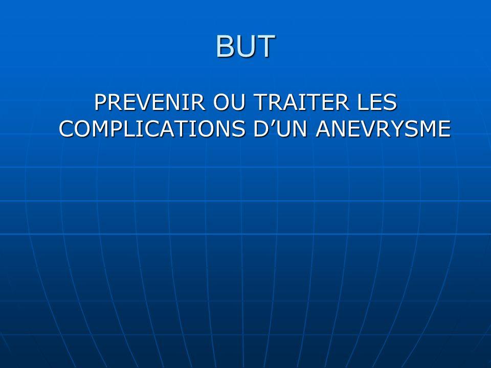 PREVENIR OU TRAITER LES COMPLICATIONS D'UN ANEVRYSME