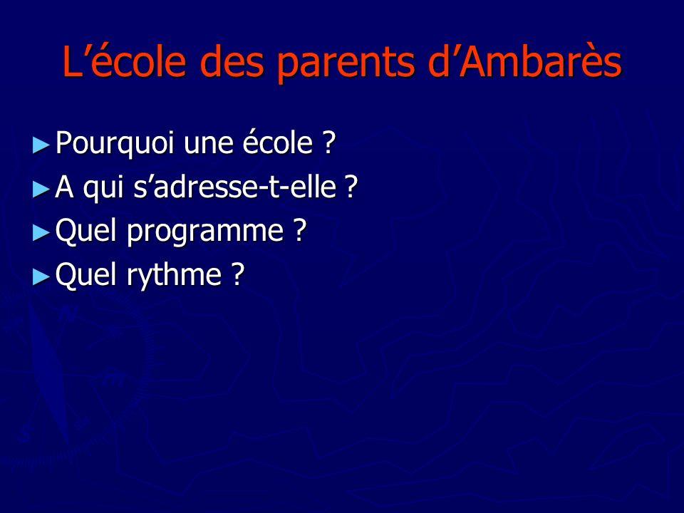 L'école des parents d'Ambarès