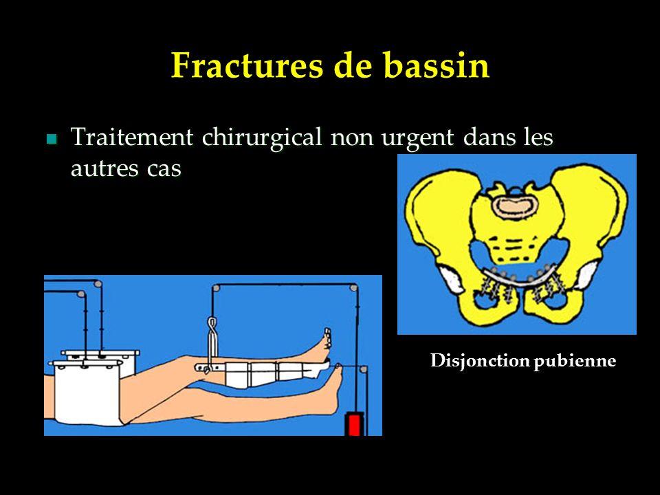 Fractures de bassin Traitement chirurgical non urgent dans les autres cas Disjonction pubienne