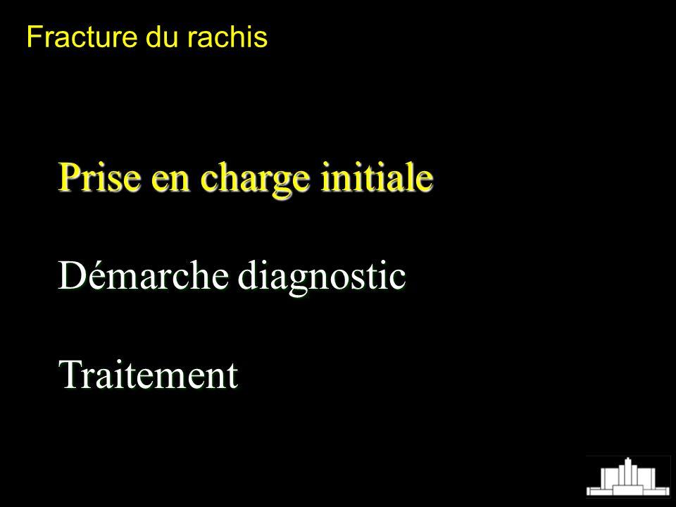 Prise en charge initiale Démarche diagnostic Traitement