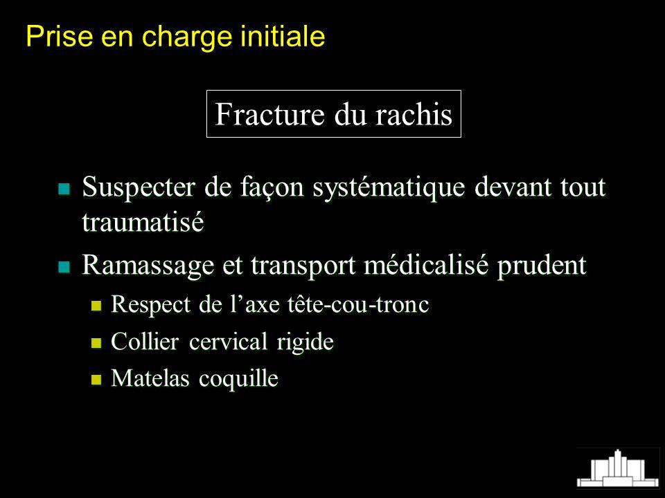 Fracture du rachis Prise en charge initiale