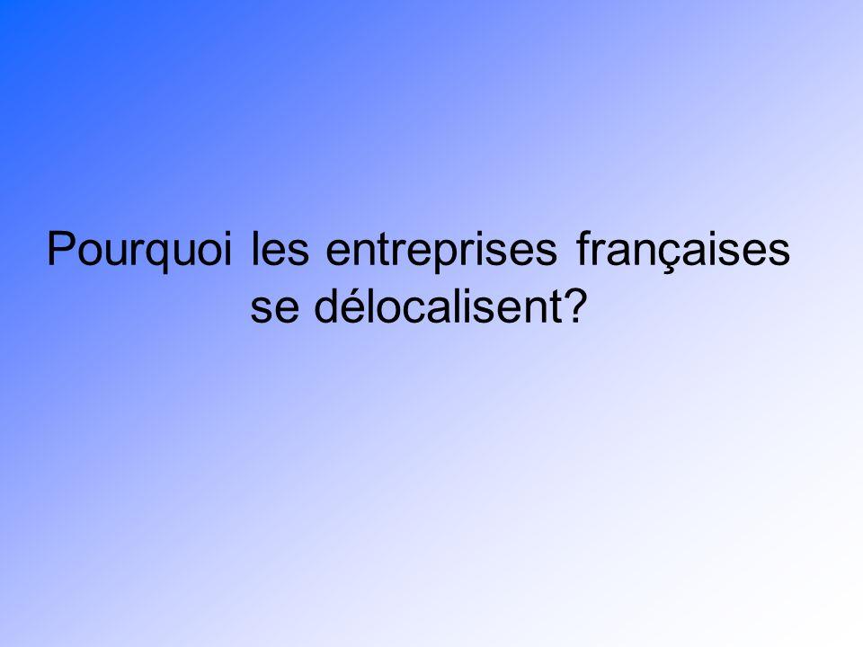 Pourquoi les entreprises françaises se délocalisent