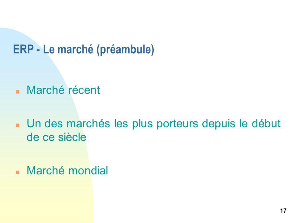 ERP - Le marché (préambule)