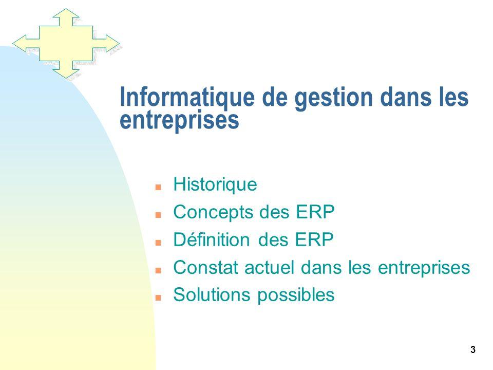 Informatique de gestion dans les entreprises