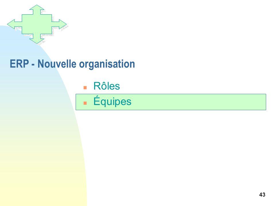 ERP - Nouvelle organisation