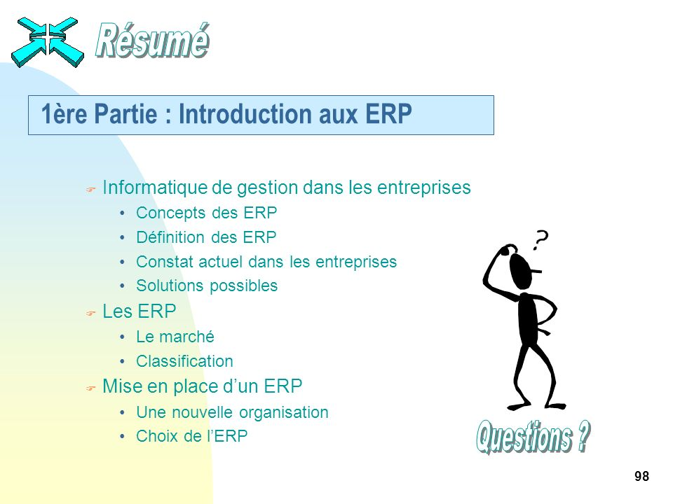 1ère Partie : Introduction aux ERP
