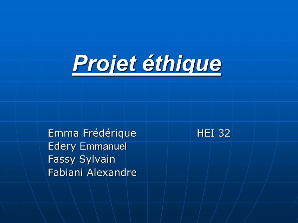 Emma Frédérique HEI 32 Edery Emmanuel Fassy Sylvain Fabiani Alexandre