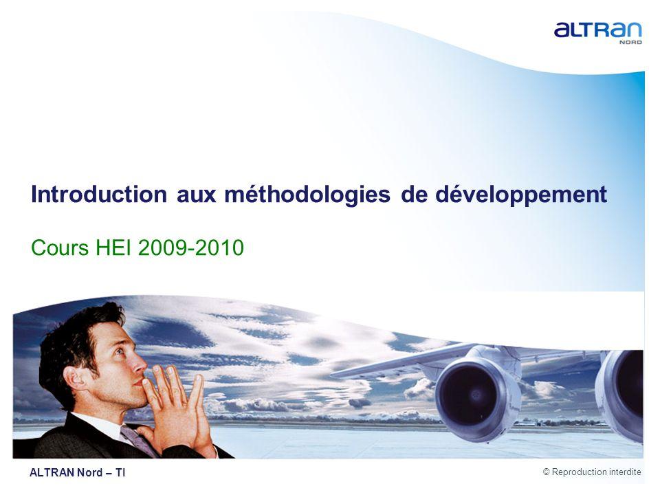 Introduction aux méthodologies de développement Cours HEI 2009-2010