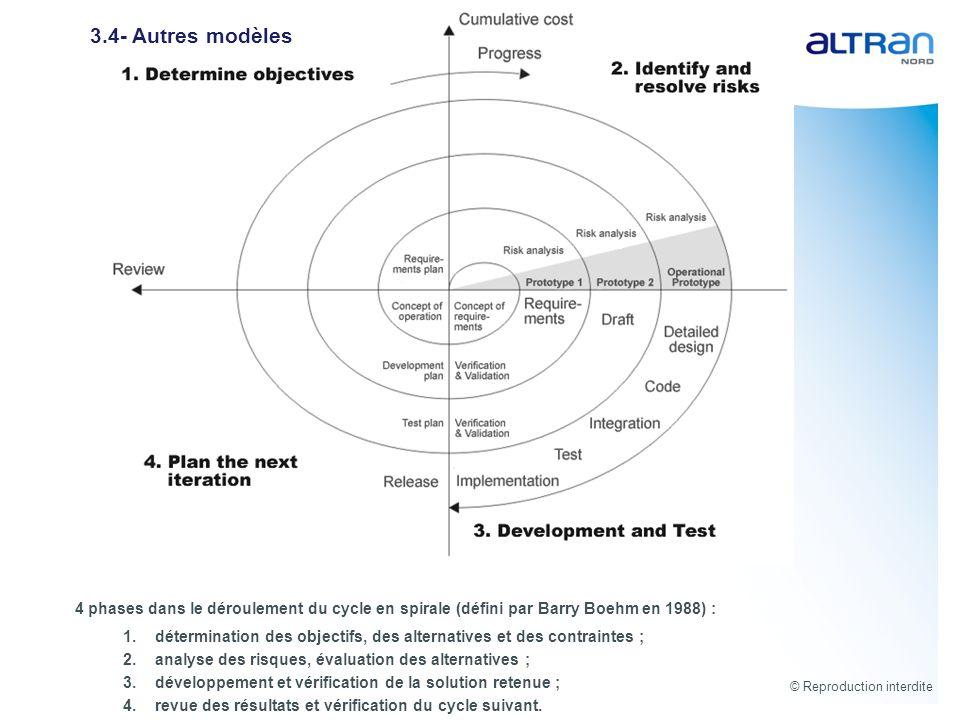 3.4- Autres modèles 4 phases dans le déroulement du cycle en spirale (défini par Barry Boehm en 1988) :
