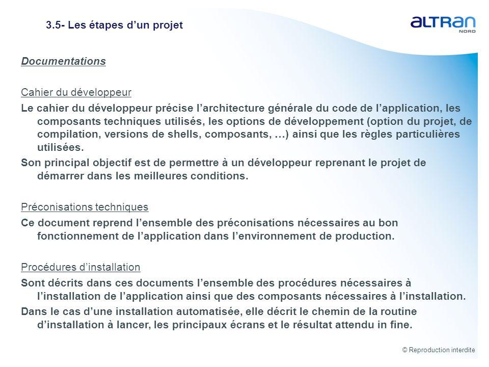3.5- Les étapes d'un projet