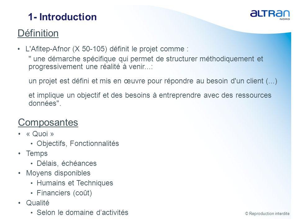 1- Introduction Définition Composantes