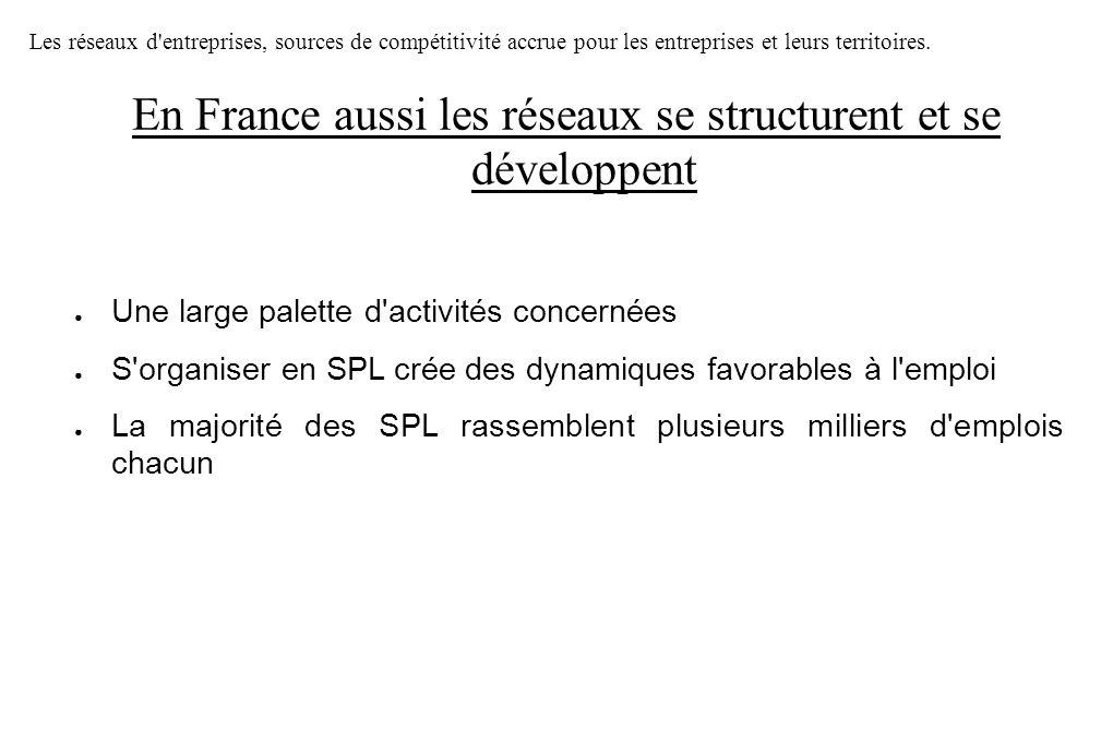 En France aussi les réseaux se structurent et se développent