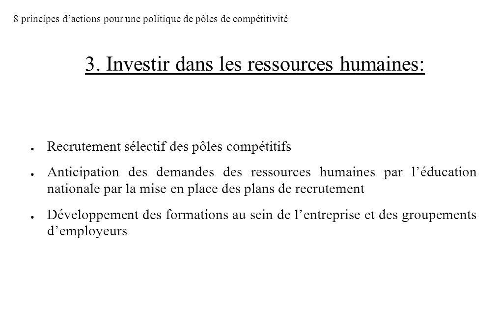 3. Investir dans les ressources humaines: