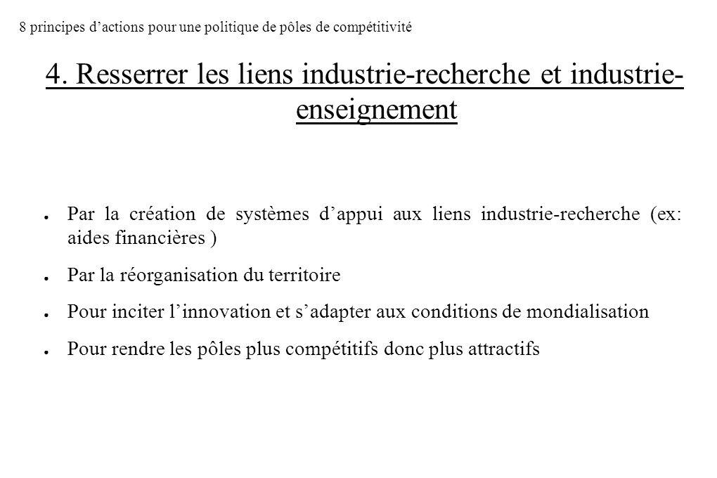 4. Resserrer les liens industrie-recherche et industrie-enseignement