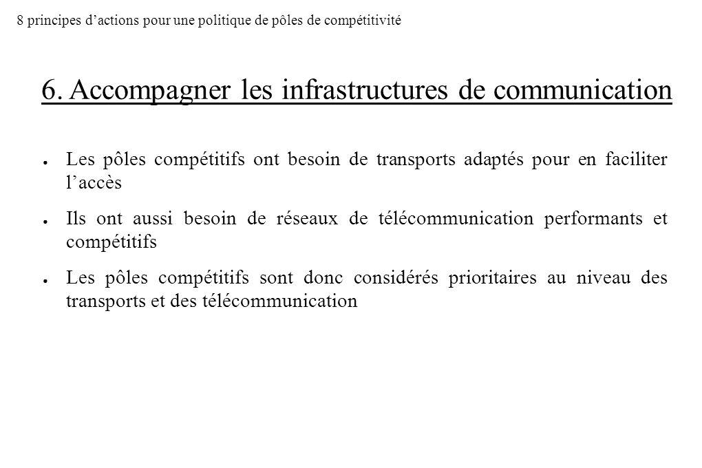 6. Accompagner les infrastructures de communication