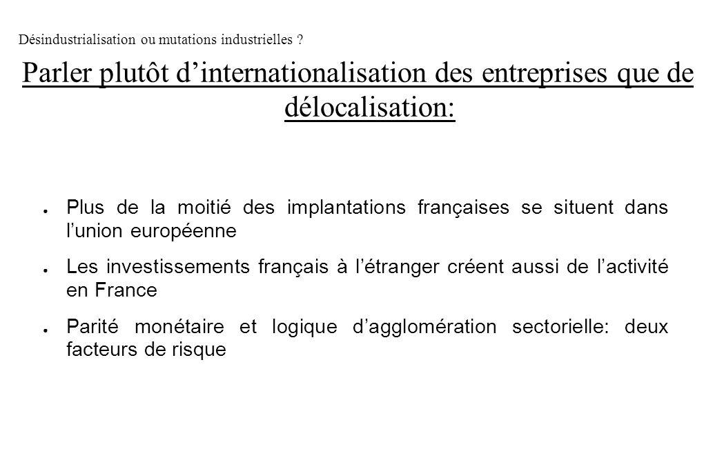 Désindustrialisation ou mutations industrielles