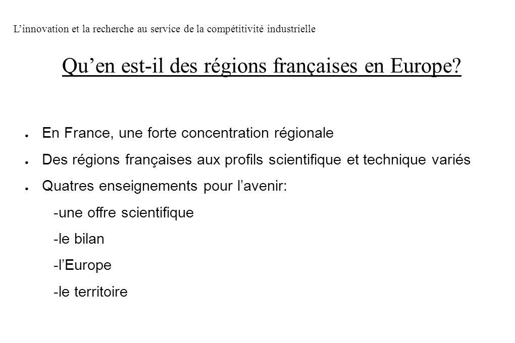 Qu'en est-il des régions françaises en Europe