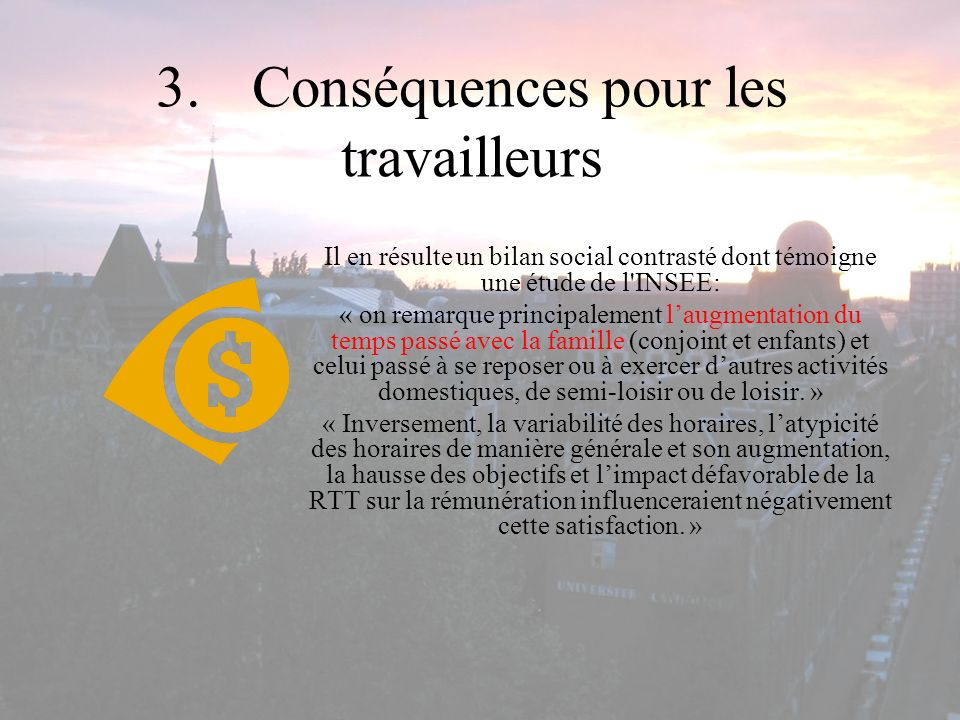 3. Conséquences pour les travailleurs