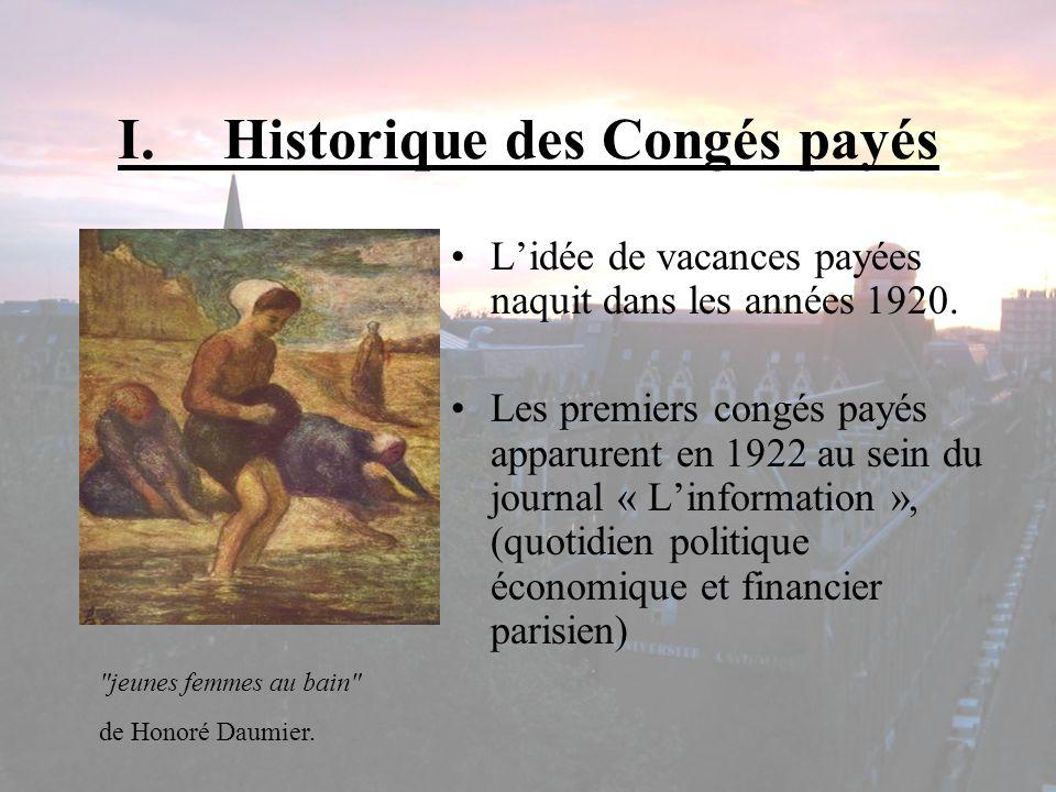 I. Historique des Congés payés