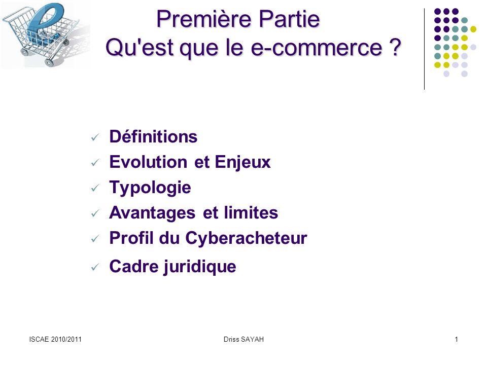 Première Partie Qu est que le e-commerce