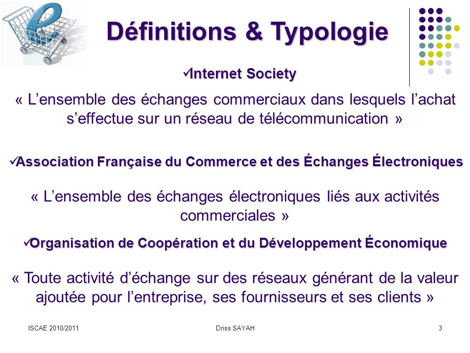 Définitions & Typologie