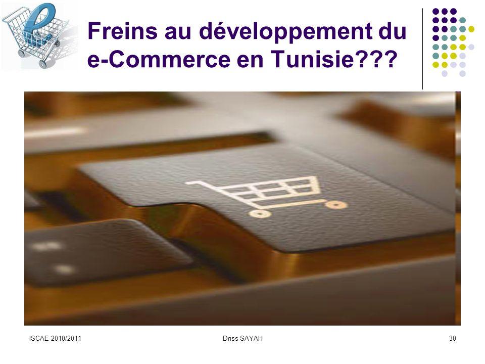 Freins au développement du e-Commerce en Tunisie