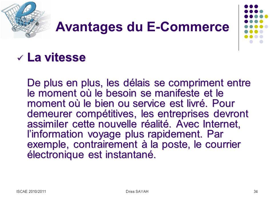 Avantages du E-Commerce