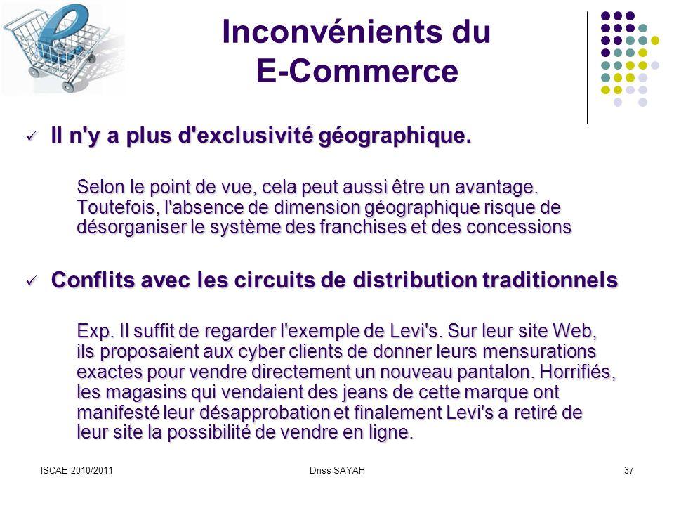 Inconvénients du E-Commerce