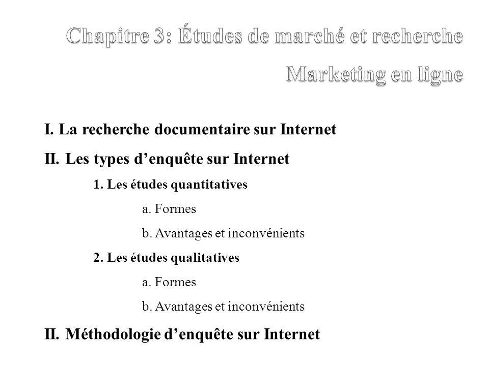 Chapitre 3: Études de marché et recherche Marketing en ligne