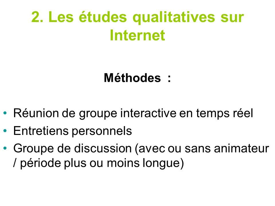 2. Les études qualitatives sur Internet