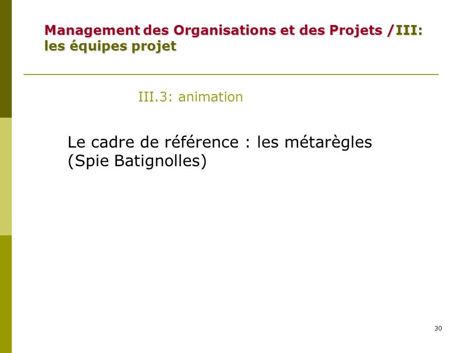 Le cadre de référence : les métarègles (Spie Batignolles)