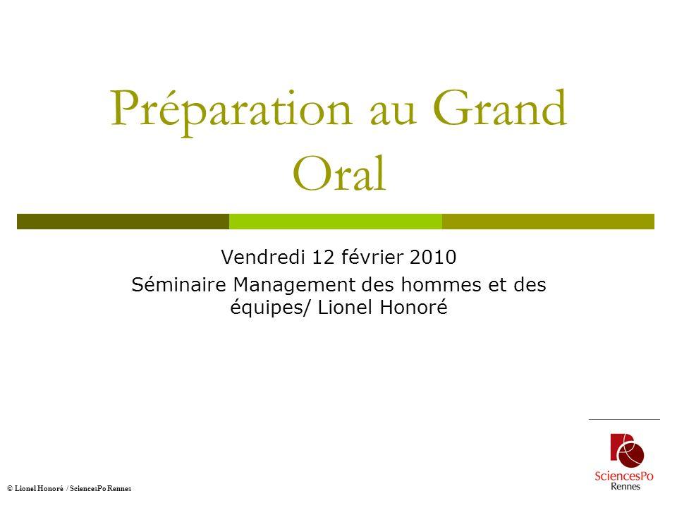Préparation au Grand Oral